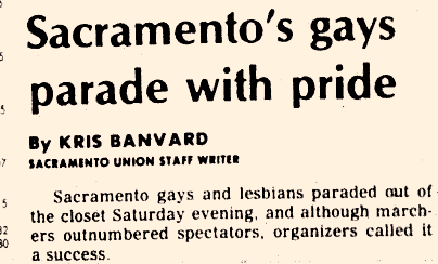 Sacramento's gays parade with pride headline
